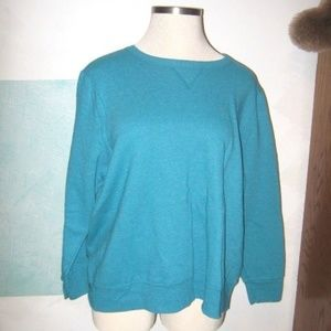 Bright Blue Ecosmart Comfort Stretch Sweatshirt 2X